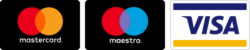 Mastercard, maestro, visa